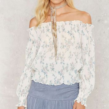 Sheer Me Out Off the Shoulder Top