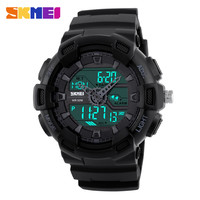 SKMEI Brand New Fashion Watch Men Dual Time Digital Sports Wristwatch LED Analog Quartz Military Watches Relogio Masculino Reloj