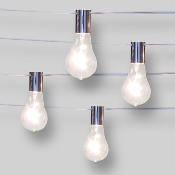 10ct String Lights Spiral Filament G50 - Clear Bulbs - Smith & Hawken™