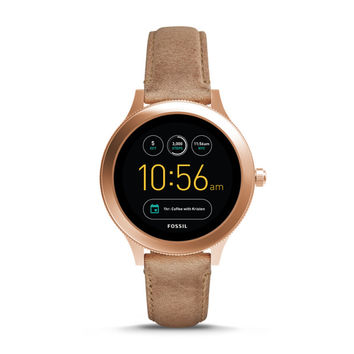 Gen 3 Smartwatch - Q Venture Sand Leather