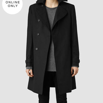 Mens Bison Coat (Black) | ALLSAINTS.com