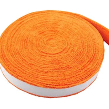Badminton Crank Handle - Tennis, Badminton Hand Gel  Towel -- Orange