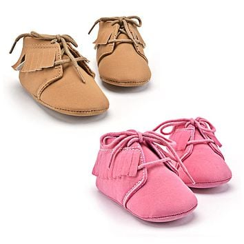 Baby Boy and Girl Warm Tassel Soft Sole Leather Shoes Infant Moccasin Toddler Baby First Walker Shoes
