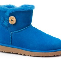 Ugg Ugg Womens Mini Bailey Button Boot (7 B(M) Us, Brilliant Blue)