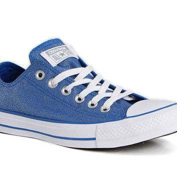Converse Chuck Taylor All Star Glitter Shoes in Blue 555820F