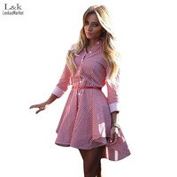 Women Autumn Winter Dresses  Sexy Long Sleeve Striped Short Mini vestidos Female Casual Party Office Dress S-XL