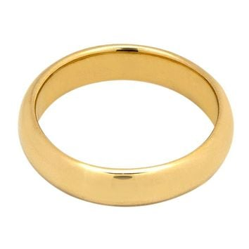 14k Solid Yellow Gold 5.0 mm Wide Comfort Fit Wedding Band