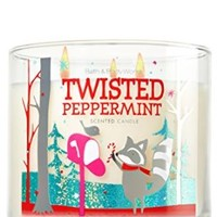 Bath Body Works Twisted Peppermint 3-Wick Scented Candle