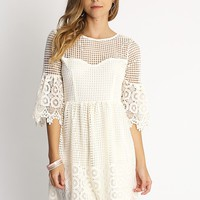 Hamptons Lace Overlay Detail Dress | Ruche