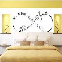 "AND IN THAT MOMENT I SWEAR WE WERE INFINITE ~ WALL DECAL, 12"" X 26"":Amazon:Home Improvement"