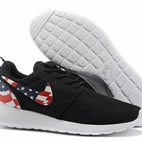 """Nike Roshe Run USA"" Sport Casual National Flag Unisex Sneakers Couple Running Shoes"