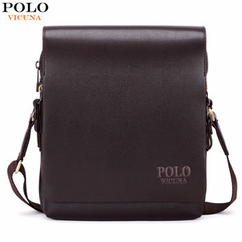 New Arrival Fashion Business Leather Men Messenger Bags Promotional Small Crossbody Shoulder Bag Casual Man Bag