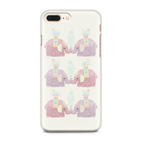 Cute Pastel Elephants Phone Case, Personalized Phone Case, Cute Phone Case, Animal Phone Case, iPhone 8, iPhone X, Samsung Galaxy S9