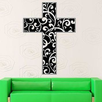 Wall Sticker Vinyl Decal Cross Religion Christianity Jesus Decor Unique Gift (ig2163)