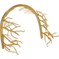 Balenciaga Golden Branch Tiara at Barneys.com