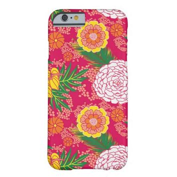 Modern Tropical Floral Pattern iPhone 6 Case