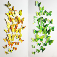 3D Butterfly Wall Decals12pcs 6big+6small PVC 3D Butterfly Wall Sticker for Home Decoration