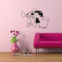 Lilo and Stitch Cartoon Disney Wall Art Sticker Decal d511