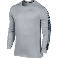 Nike Men's Relay Graphic Crew Long Sleeve Running Shirt