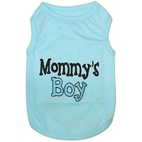 MOMMY'S BOY ★ HIGH QUALITY Embroidered Pet Dog Shirt ★ All Sizes (Small)