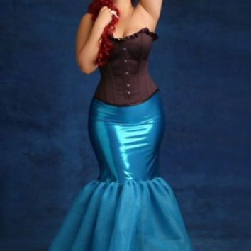 Mermaid Metallic Trumpet Tulle Skirt