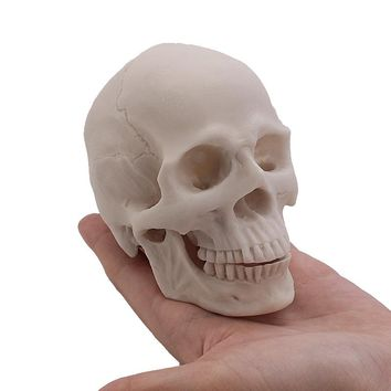 P-flame Painting Human Skull Model DIY Hand Graffiti Figurines & Miniatures Creative Resin Decoration Crafts For Home Decor