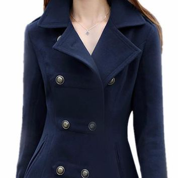 Women's Fashion Peacoat