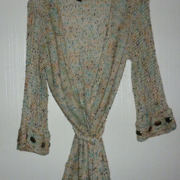 Women's BCBG Maxazria Embellished Opia Cardigan Sweater With Belt