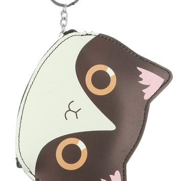 Kitten Coin Pouch Zip Key Chain