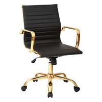 Angelina Office Chair in Gold