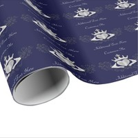 The Claddagh (Silver) Wrapping Paper