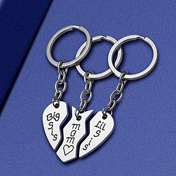 3 Piece: Stainless Steel Mother & Daughters Keychain Gift Set