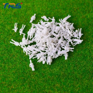 200pcs/lot 1:200 architectural scale model white figures for model train railway layout