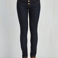 Nautical Skinny Karaoke Songstress Jeans in Dark Wash