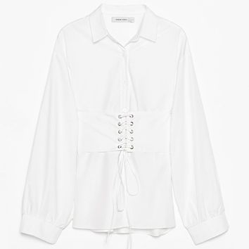 Oversized Shirt with Corset