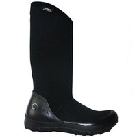 ONETOW Bogs Kettering - Waterproof Black Rubber/Fabric Pull-On Tall Rain Boot