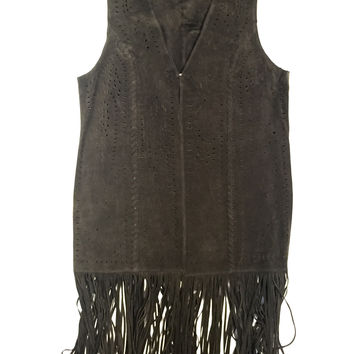 Scully Suede Full Length Fringe Vest