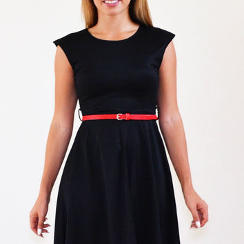 Perfection Midi Black Modest Dress
