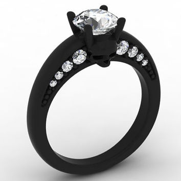 Black Gold Skull Ring 10 k