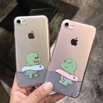 Cute baby dinosaur plastic Case Cover for Apple iPhone 7 7Plus 6 675b06d4e