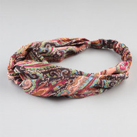 Full Tilt Paisley Print Chiffon Headband Multi One Size For Women 22392695701