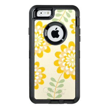 Trendy Girly Yellow Floral Pattern - Cream OtterBox iPhone 6/6s Case