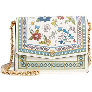 Tory Burch Robinson Floral Print Shoulder Bag | Nordstrom