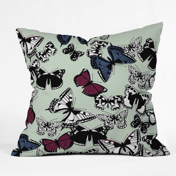 Sharon Turner Flutter Carousel Throw Pillow