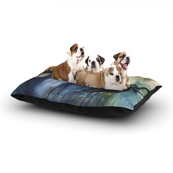 "Steve Dix ""Gravity Falling"" Blue Paint Dog Bed"