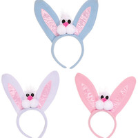 easter bunny headband with easter bunny face and ears Case of 72