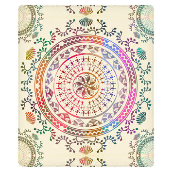 Mandala Fleece Throw