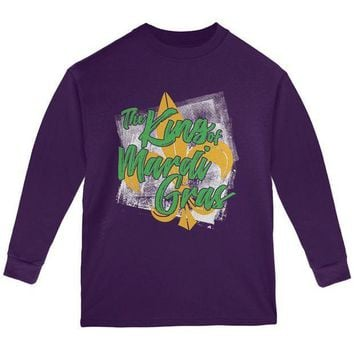 PEAPGQ9 The King of Mardi Gras Youth Long Sleeve T Shirt