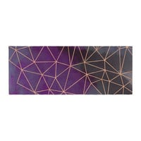 """Cafelab """"Watercolor Storm"""" Purple Gold Bed Runner"""