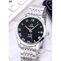 Omega 2019 new simple men and women steel strip quartz watch #2